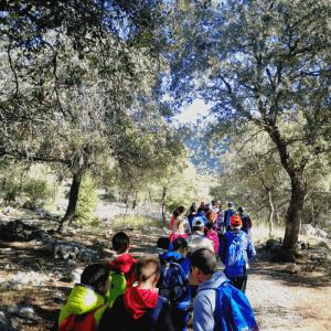 Grupo escolar en Los Cahorros