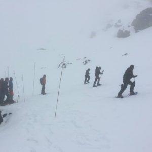 Un grupo de personas en el curso de emergencia en avalanchas