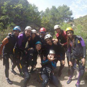 Grupo de personas en un viaje con Mountain Spirit a la Sierra de Guara